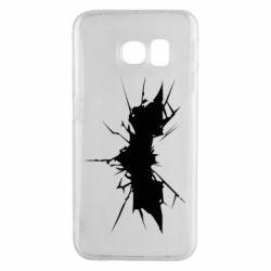 Чехол для Samsung S6 EDGE Batman cracks - FatLine