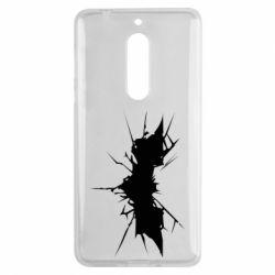 Чехол для Nokia 5 Batman cracks - FatLine