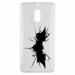 Чехол для Nokia 6 Batman cracks - FatLine
