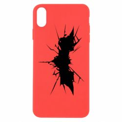 Чехол для iPhone Xs Max Batman cracks - FatLine