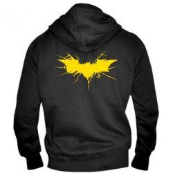 Мужская толстовка на молнии Batman cracks - FatLine