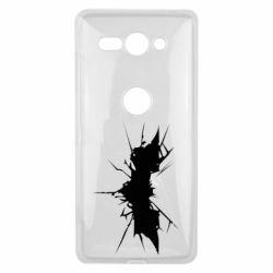 Чехол для Sony Xperia XZ2 Compact Batman cracks - FatLine