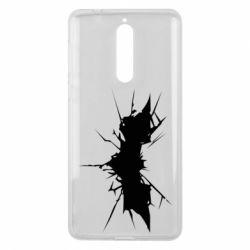 Чехол для Nokia 8 Batman cracks - FatLine