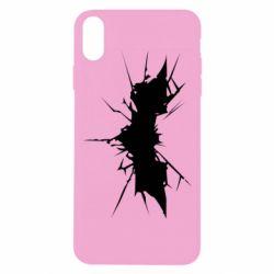Чехол для iPhone X Batman cracks - FatLine