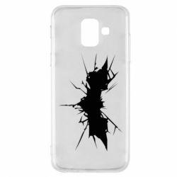 Чехол для Samsung A6 2018 Batman cracks - FatLine