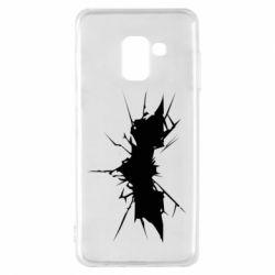Чехол для Samsung A8 2018 Batman cracks - FatLine