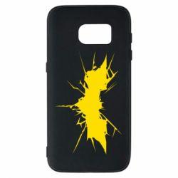 Чехол для Samsung S7 Batman cracks - FatLine