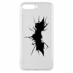 Чехол для Huawei Y6 2018 Batman cracks - FatLine