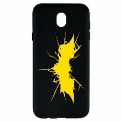 Чехол для Samsung J7 2017 Batman cracks - FatLine