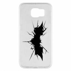 Чехол для Samsung S6 Batman cracks - FatLine