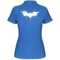 Женская футболка поло Batman cracks - FatLine