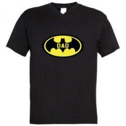 Чоловіча футболка з V-подібним вирізом Batman dad