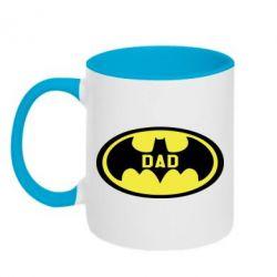 Кружка двоколірна 320ml Batman dad