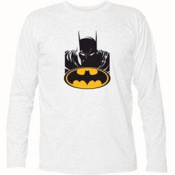 Футболка с длинным рукавом Batman face - FatLine