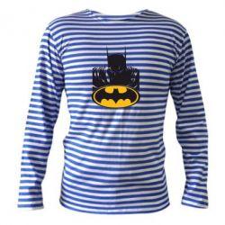 Тельняшка с длинным рукавом Batman face - FatLine
