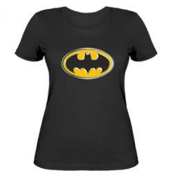 Женская футболка Batman Gold Logo - FatLine