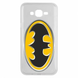 Чехол для Samsung J7 2015 Batman Gold Logo