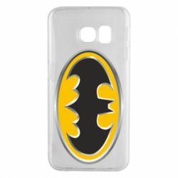 Чехол для Samsung S6 EDGE Batman Gold Logo