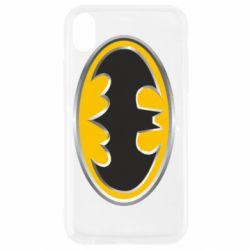Чехол для iPhone XR Batman Gold Logo