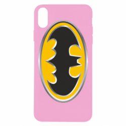 Чехол для iPhone Xs Max Batman Gold Logo