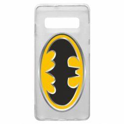 Чехол для Samsung S10+ Batman Gold Logo