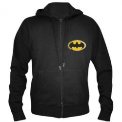 Мужская толстовка на молнии Batman Gold Logo - FatLine