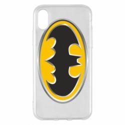 Чехол для iPhone X/Xs Batman Gold Logo