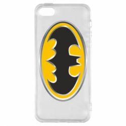 Чехол для iPhone5/5S/SE Batman Gold Logo