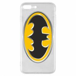 Чехол для iPhone 8 Plus Batman Gold Logo