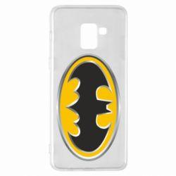 Чехол для Samsung A8+ 2018 Batman Gold Logo