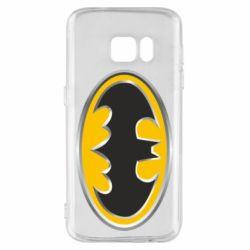 Чехол для Samsung S7 Batman Gold Logo
