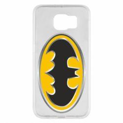 Чехол для Samsung S6 Batman Gold Logo