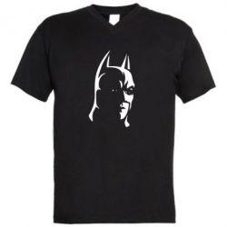 Мужская футболка  с V-образным вырезом Batman Hero - FatLine