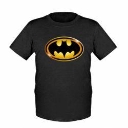 Детская футболка Batman logo Gold - FatLine