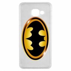 Чохол для Samsung A3 2016 Batman logo Gold