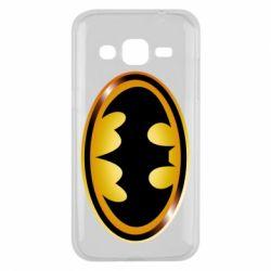 Чохол для Samsung J2 2015 Batman logo Gold