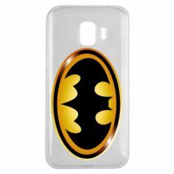 Чохол для Samsung J2 2018 Batman logo Gold