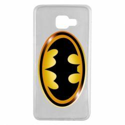 Чохол для Samsung A7 2016 Batman logo Gold