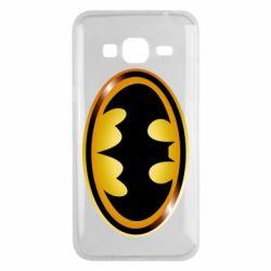 Чохол для Samsung J3 2016 Batman logo Gold