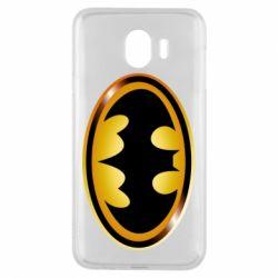 Чохол для Samsung J4 Batman logo Gold
