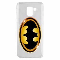 Чохол для Samsung J6 Batman logo Gold