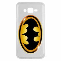 Чохол для Samsung J7 2015 Batman logo Gold