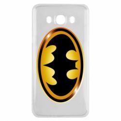 Чохол для Samsung J7 2016 Batman logo Gold