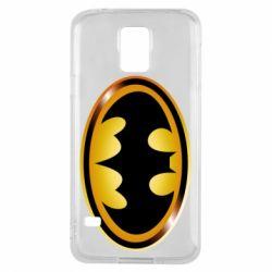 Чохол для Samsung S5 Batman logo Gold