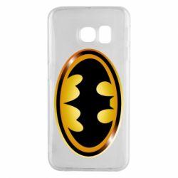 Чохол для Samsung S6 EDGE Batman logo Gold