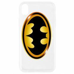 Чохол для iPhone XR Batman logo Gold