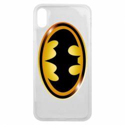 Чохол для iPhone Xs Max Batman logo Gold