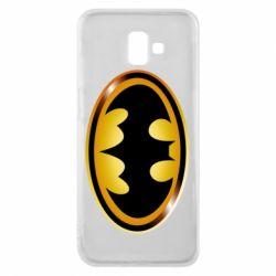 Чохол для Samsung J6 Plus 2018 Batman logo Gold