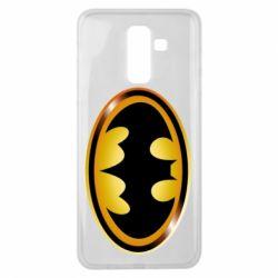 Чохол для Samsung J8 2018 Batman logo Gold