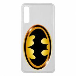 Чохол для Samsung A7 2018 Batman logo Gold
